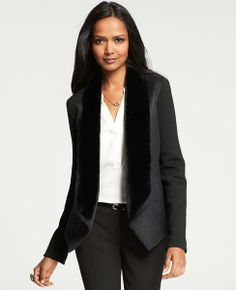 Shearling Shawl Collar Jacket