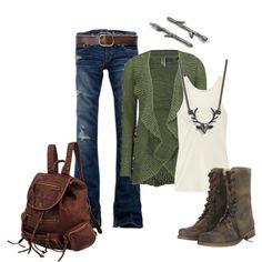 Hunting Season (BKE Studded Cardigan Sweater $48) by ruthmjoy