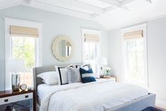 Calming color palette in our Windsong Project Master -- Studio McGee. Best Gray Paint Color, Green Wall Color, Neutral Paint, Studio Mcgee, Bedroom Paint Colors, Sofa Set, Master Suite, Family Room, Interior Design