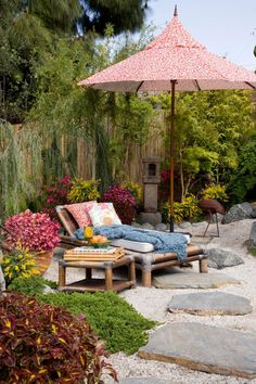 Asian-inspired garden for a great summer day - read, nap, have dinner with friends  #oklsummer