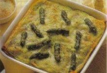 Lasagne agli asparagi con cerfoglio tritato.