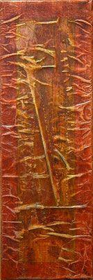 Matières et couleurs XII, Techniques mixtes sur toile, 20 x 60 cm, disponible