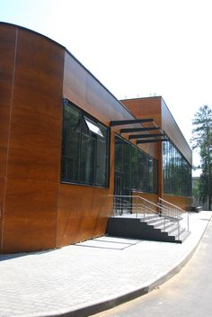 Parklex wood veneer facade transforms your project into a brilliant building. #brilliantbuildings