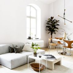 These Gray Couches Were Practically Made for Small Living Rooms via @MyDomaineAU