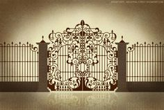 EXTERIOR: All I've ever wanted in a home is a big ass, spooky wrought iron gate. I don't even care if it never gets opened. I just want one.