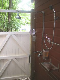 outdoor shower -- elaborate!