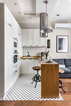 If you are looking for Apartment Kitchen Design Ideas, You come to the right place. Below are the Apartment Kitchen Design Ideas. This post about Apartment . Interior Design Kitchen, Modern Interior Design, Small Space Interior Design, Contemporary Interior, Small Apartments, Small Spaces, Studio Apartments, College Apartments, Appartement Design