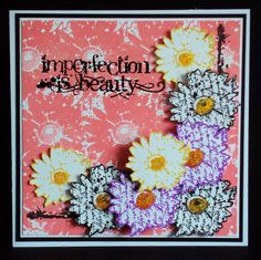 Fabulous Flowers - visible image stamps - inky flower stamp - imperfection is beauty - pauline butcher