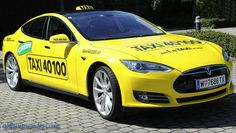The capital city of Austria has recently joined the exclusive club of those who have Tesla Model S cars running as cabs around town. The first EV ride came in this May, but the company's plan is to create an entire fleet of about 20 cars. Electric Power, Electric Cars, Uber, Taxi, Tesla News, Tesla Model X, Converse, Tesla Motors, Autos