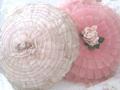 Vintage Shabby Chic Pillows..my gramma had ones just like these on her bed!