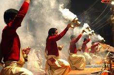Great Ganga Aarti on bank of ganga varanasi