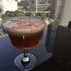 'The Naked Eye', #Cocktail prepared with fine liquor including gin, aperitif wine, vermouth, champagne and bitters. #MOfoodies