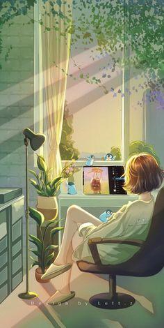 Cute Girl Drawing, Cute Drawings, Cute Cartoon Wallpapers, Animes Wallpapers, Beautiful Fantasy Art, Anime Scenery Wallpaper, Kawaii Wallpaper, Cartoon Art Styles, Girl Cartoon