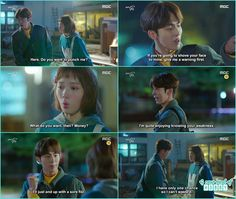 bok joo ask joon hyung if he wanted to puch her as she can't live in fear of leaking her secret but joon hyung told her he don't want anything as he really enjoying bok joo's situation - Weightlifting Fairy Kim Bok Joo - Episode 5 (Eng Sub)