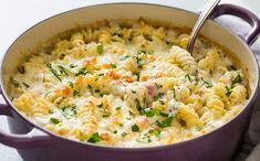 Gratin de pâtes au chèvre et jambon, recette d'un bon plat facile et simple à réaliser et idéal pour un repas complet accompagné d'une salade.
