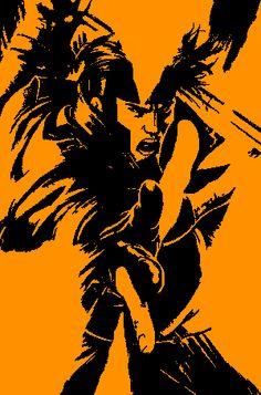 Gambit X-men Stencil -Tim Noakes