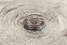 sparkly, glamorous wedding rings