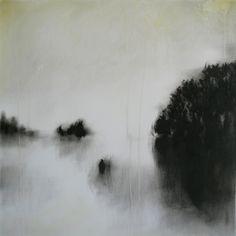 'five days on water' (2009) by Austrian artist Birgit Zartl. Oil on paper. via Saatchi
