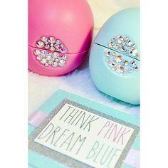2 Swarovski Crystallized EOS Lip Balms by thinkpinkdreamblue