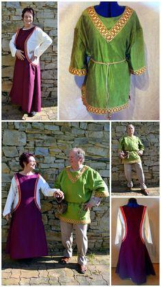 robe médiévale femme surcot et tunique homme
