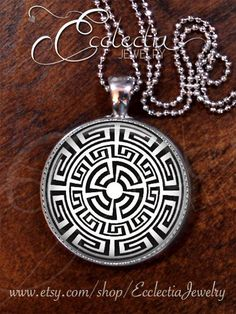 AZTEC Black n White/Ancient Design/Silver Plate/Geometric