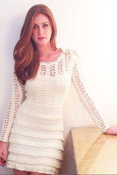 Vestido-Trico-Renda-Off-White | Galeria Tricot - Galeria Tricot