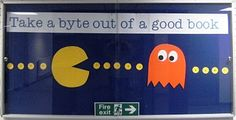 Take a byte out of a good book // Library Display - Bulletin Board // Theme/s - Games, General