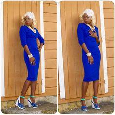 Bluesssssssss - Channeling my inner Marilyn Monroe. Styled by Jacqueline Benn-Schuppe for my 36th Birthday