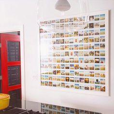 Morning light on the Polaroid mosaic Polaroid Display, Polaroid Frame, Polaroid Pictures Display, Polaroids, Picture Wall, Photo Wall, Photowall Ideas, Photo Boards, Morning Light