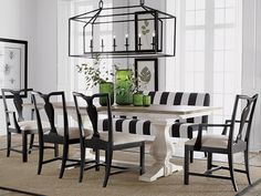 Black and White dining rooms Ethan Allen Country dining room