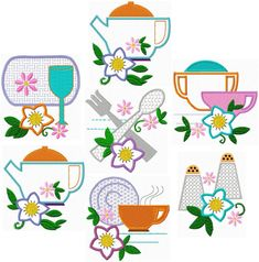 Flowers And Teapots