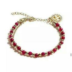 Compre aqui: www.sophiejuliete.com.br/estilista/nandabordon  Pulseira isadora semi joia rubi banhado a ouro 18k espirito santo fashion moda acessorios