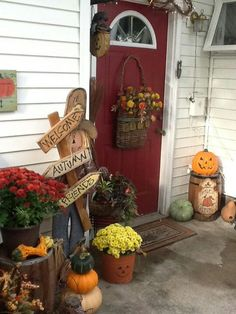 Fall Decor idea for front porch