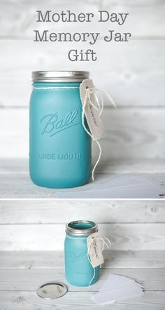 Mothers Day gift. A memory jar. Fill with loved memories for mom, grandma, a family member or friend.