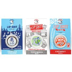 My design inspiration: Lip Sh_t Lip Balm 3 Pack I on Fab.