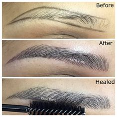 Pin By Mayvenn Beauty On Eye Makeup In 2019 Microblading Eyebrows, Eyebrow Makeup Tips, Permanent Makeup Eyebrows, Eye Makeup, Eyebrow Pencil, Perfect Eyebrows, Perfect Eyes, Mircoblading Eyebrows, Shape Eyebrows, Phi Brows