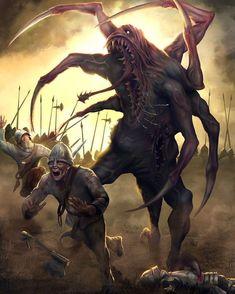 underground fantasy for your pleasure Dark Fantasy Art, Fantasy Demon, Fantasy Beasts, Fantasy Monster, Demon Art, Fantasy Artwork, Arte Horror, Horror Art, Monster Concept Art