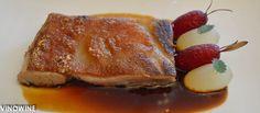 Cochinillo Ibérico con melón, naranja y falsa remolacha de El Celler de Can Roca