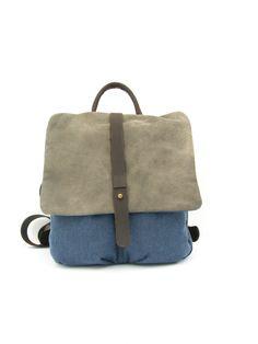 Backpack Rucksack Canvas Backpack with Leather day door RuthKraus Satchel Backpack, Canvas Backpack, Leather Backpack, Gold Leather, Canvas Leather, Hippie Backpack, Cabin Bag, Laptop Rucksack, Hip Bag