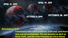Revelation I watched as the Lamb broke the sixth seal, and there was a great earthquake. The sun became as dark as black cloth, and the moon became as red as blood. Scripture Art, Bible Verses, New Testament Books, The Great I Am, Inspirational Bible Quotes, Jesus Is Coming, Bible Truth, Apocalypse, Bible
