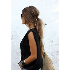 Messy hair I love this! what I would do for hair this long!