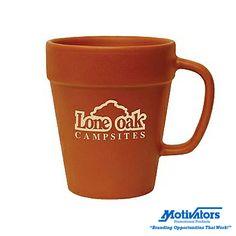 #Spring is right around the corner! Bring in the new season with our charming #terracotta flower pot mug. Add your logo and hand them out at the start of spring. #promotionalproducts #drinkware #mugs #springtime