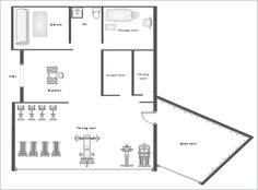 Commercial building plans strip mall plans west main for Gym floor plan examples