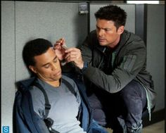 "Michael Ealy and Karl Urban in ""Almost Human"""