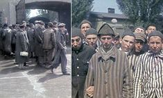 These never before seen colour pictures show the liberation of Dachau, the first of the thousands of concentration camps that sprang up across Germany after the Nazis swept into power.