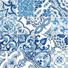 delfts blauw tegel behang ESTAhome.nl. #tiles #blue