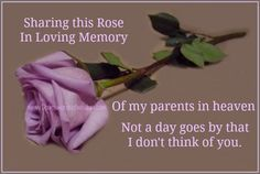 i love you and miss you mom and dad i am glad your together again