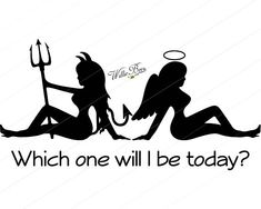 Pin Up Girl Tattoo, Pin Up Tattoos, Girl Tattoos, Small Tattoos, Half Angel Half Demon, Angel Y Diablo, Devil Tattoo, Ange Demon, Angel And Devil