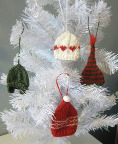 Knitted Mini Hat Ornaments or Garland.