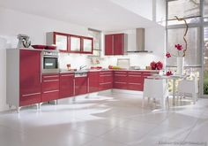 My Purple Kitchen Liances Would Look So Lovely In This Design Ideas Red Kitchens